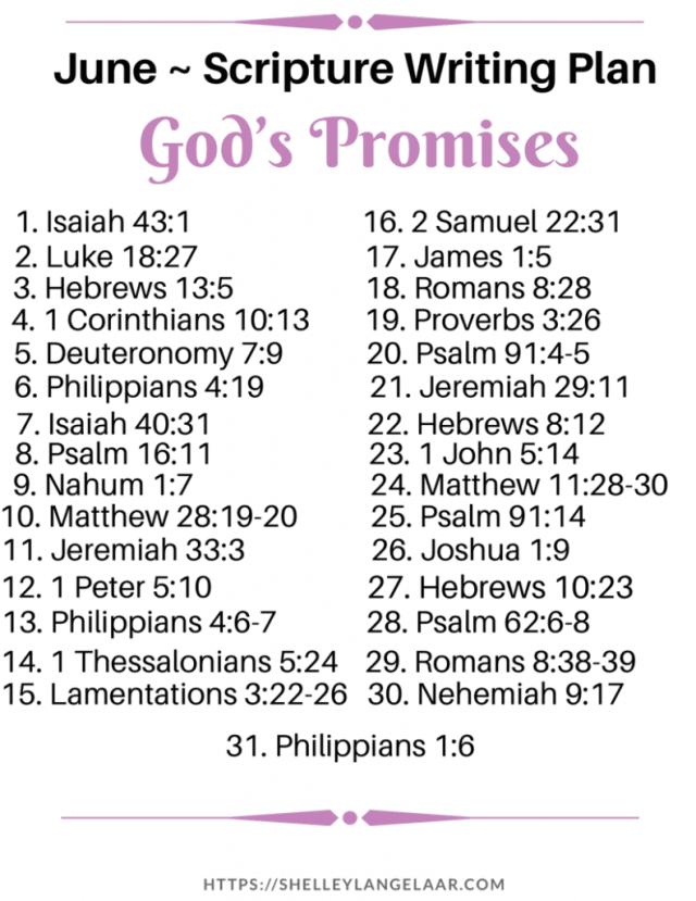 God's Promises Scripture Writing Plan