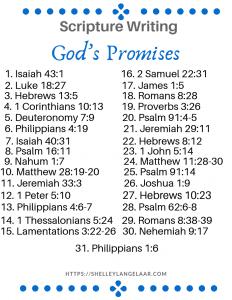 June scripture writing plan God's Promises