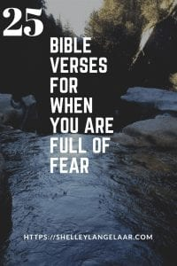 25 scriptures to overcome fear