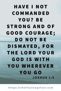 Joshua 1:9 bible truth