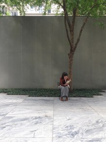 Reader in the MOMA Sculpture Garden