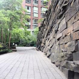 Teardrop Park Rock Wall