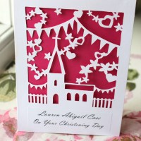 DIY Papercut Christening Card