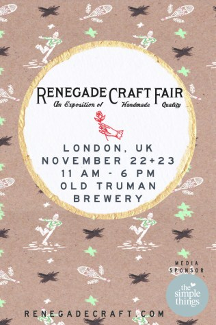 Renegade Craft Fair Flyer London 2014