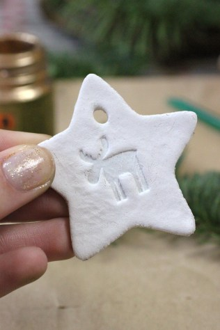 Reindeer Air Dry Clay Star | Shelley Makes