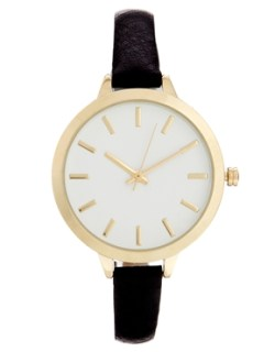 Image 1 of ASOS Large Face Slim Strap Watch