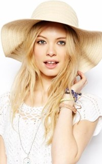 Image 1 of ASOS Straw Floppy Hat