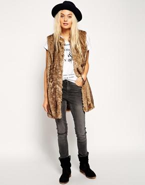 Image 4 of ASOS Faux Fur Gilet