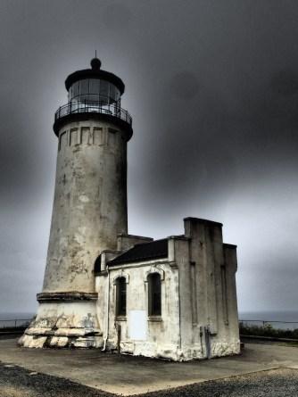 North Head Lighthouse in darker weather