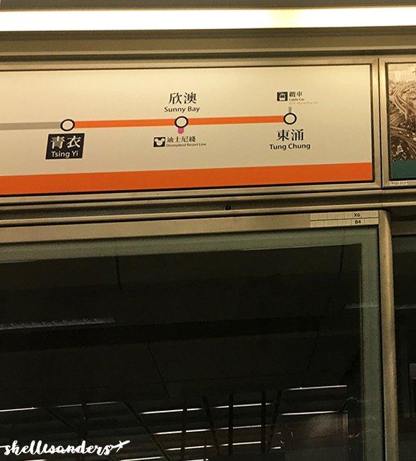 Tung Chung Line Orange colored line
