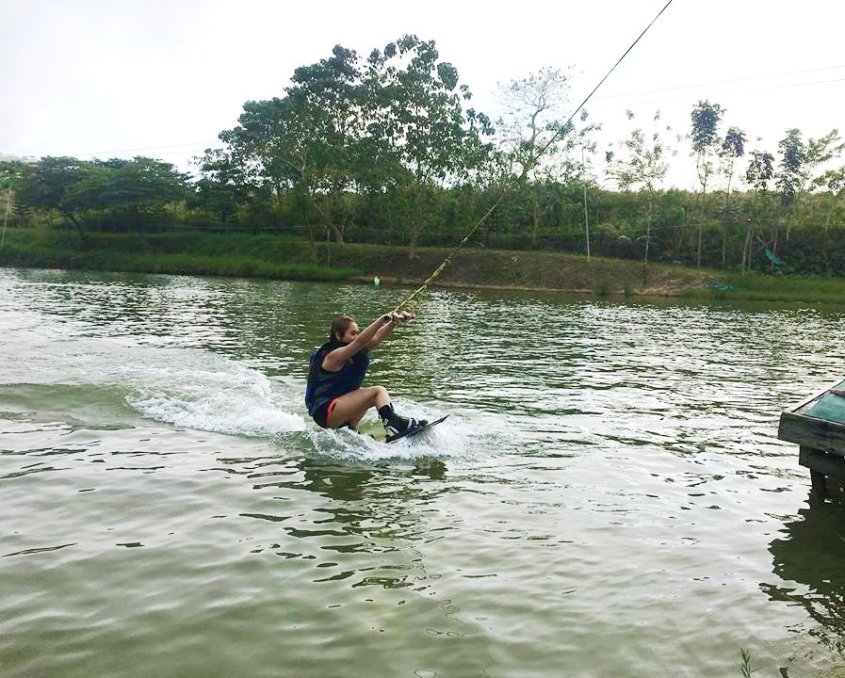 This is me,wakeboarding.