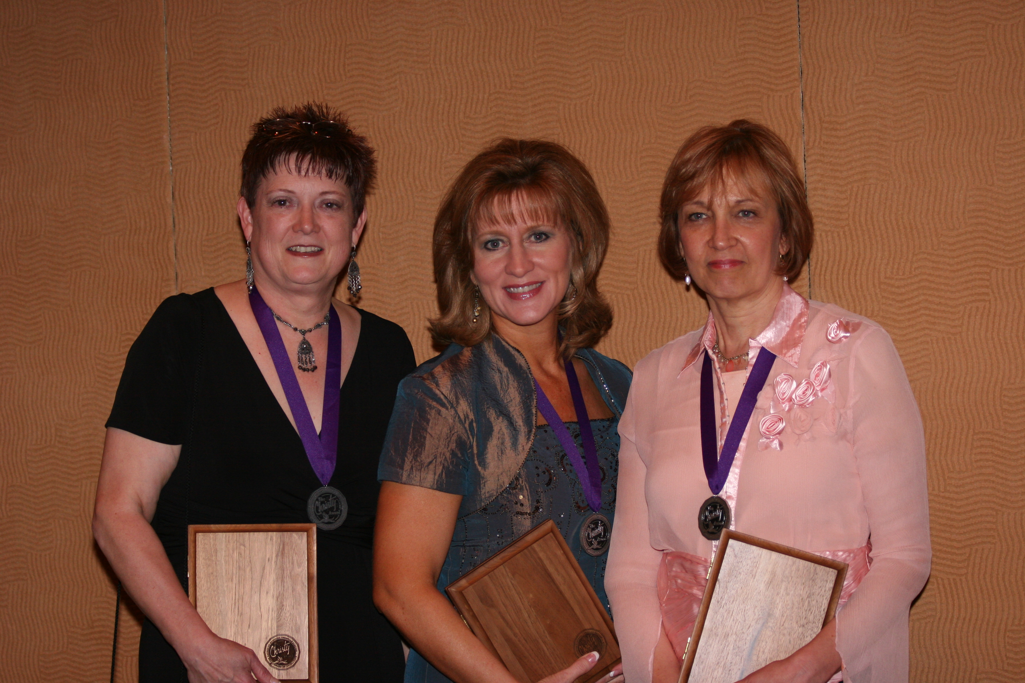 2008 Christy Award winners Shelly Beach, Tamera Alexander, Lynn Austin