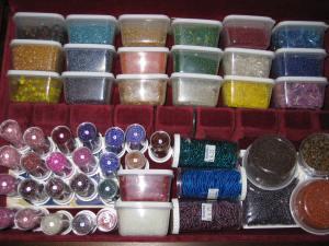 Beads were my treasure here; I love things in little jars too. :)