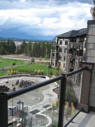 The resort we stayed at, looking out from our 4th floor balcony
