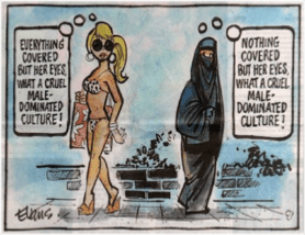Cartoon on Cultural Perspective