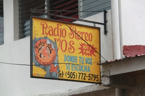 Radio Vos is a non-commercial radio station administered by the Women's Collective of Matagalpa, broadcasting 12 hours of feminist programming a day.
