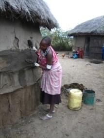 Women's work: housebuilding.