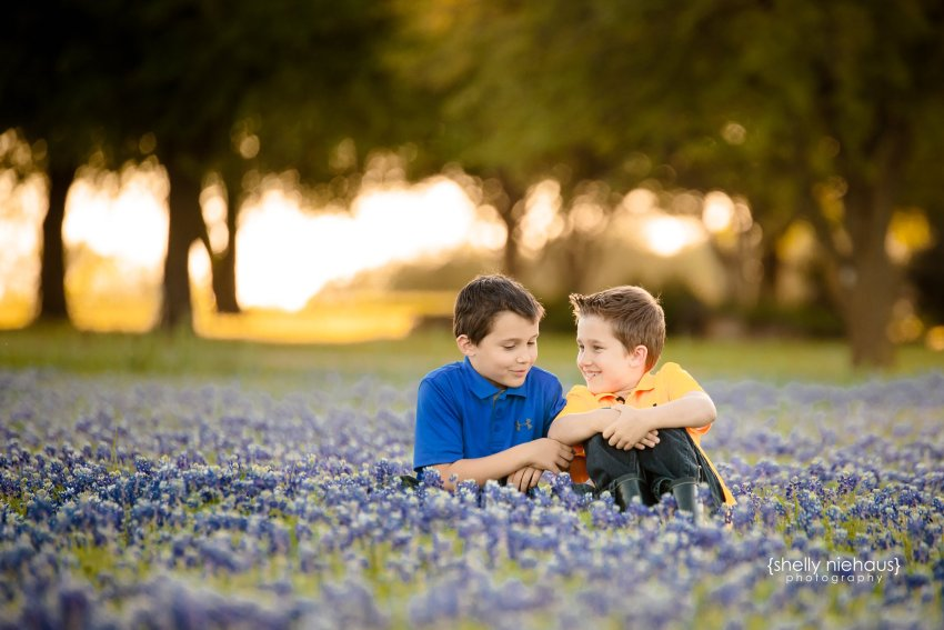 Twin boys in bluebonnets {Child Photographer, Prosper TX}