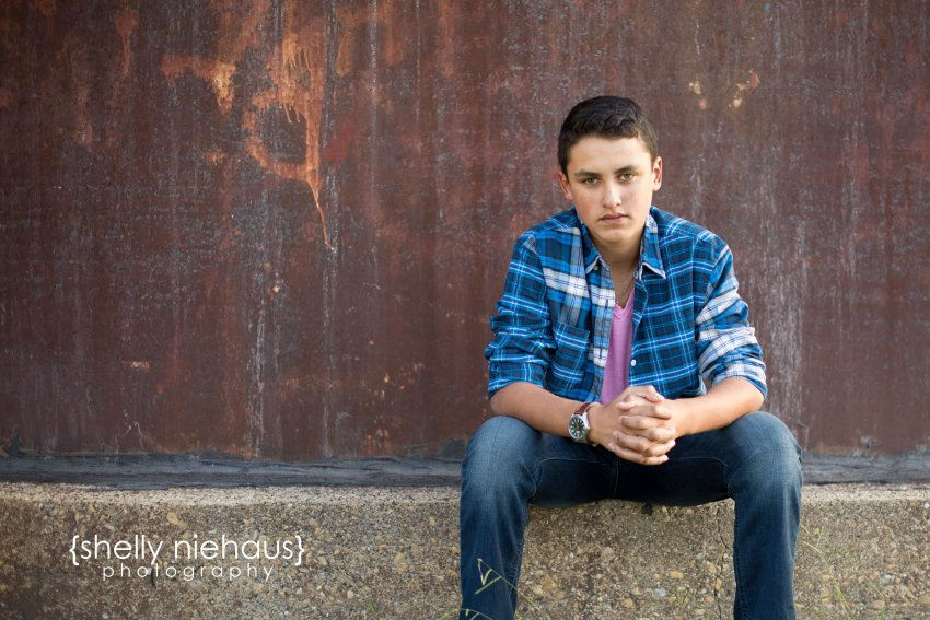 Photographing Senior Boys in a natural + candid way in a rustic setting.