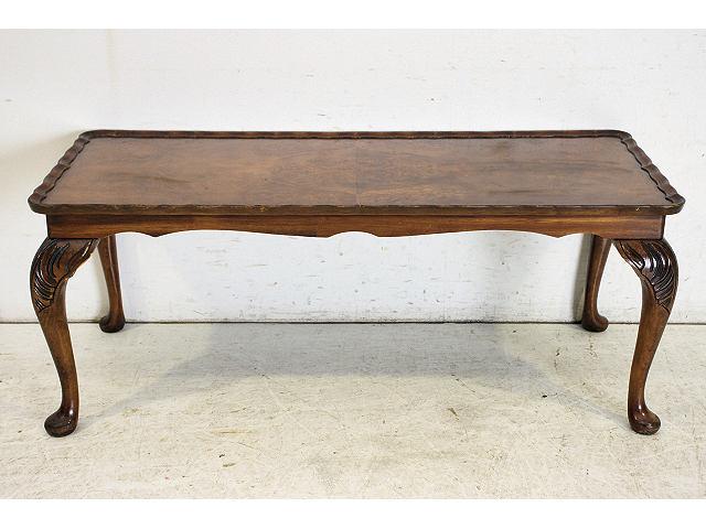 1950年代 イギリス製 アンティーク ウォルナット クイーンアンスタイルのセンターテーブル