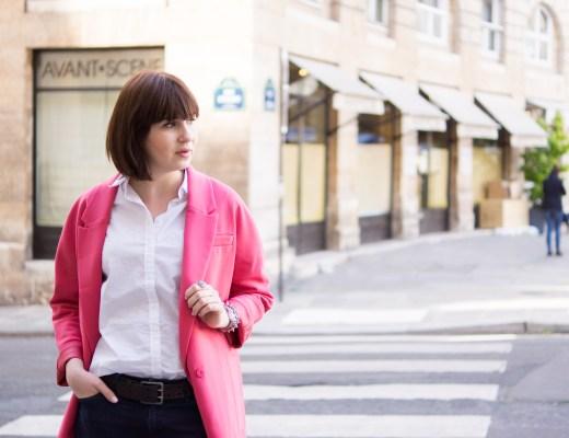 The Librarian Chic, thelibrarianchic, Blog Mode Style Beauté Food. Une aixoise à Paris, une bibliothécaire qui aime la mode. librarian blog, Pink lady, pink coat, rose, veste rose