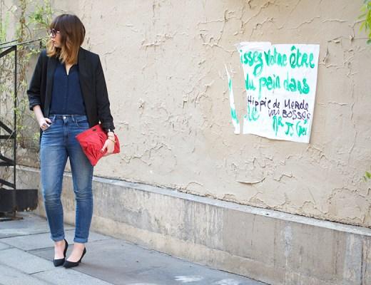 latelier des artistes, restau, paris 10, chemise soie uniqlo, jean taille haute levis, montre daniel wellington, mohekann, chloé