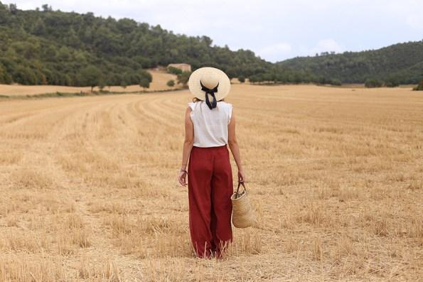 valensole, champs de blé, blé, look, thelibrarianchic