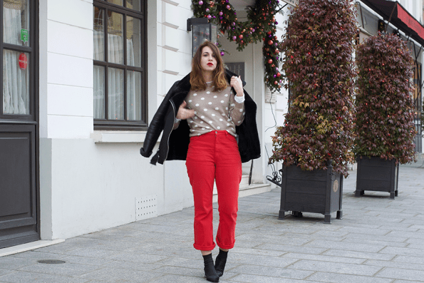 jean-rouge-hiver-ootd, tenue, inspiration