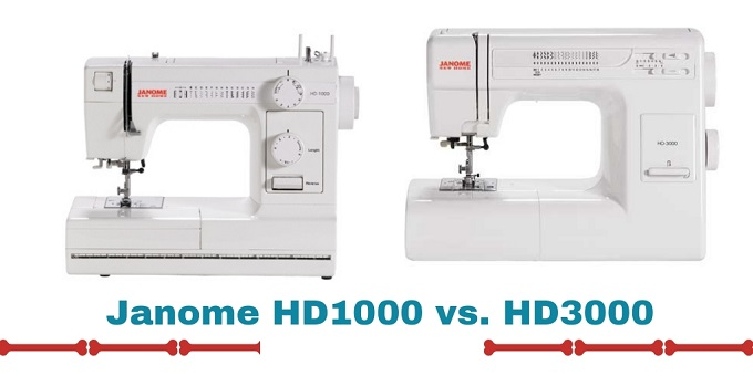 Janome HD1000 review vs. HD3000 review