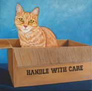 """Handle With Care,"" acrylic on canvas, $425"