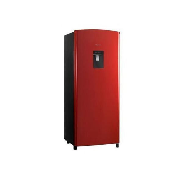 176L, WATER DISPENSER, GAS R600, GLASS SHELVES, RED COLOR