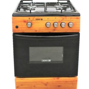 CK6402 NG – 60X60 CM WOOD FINISH 4 GAS BURNERS & GAS OVEN+GRILL