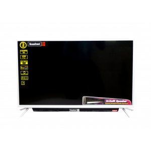 Scanfrost LED TV SFLED 32AS with Silver Aluminum Frame/Silver Metal Base – SFLED32AS / SFLED32SB
