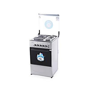 CK5222NG – 50X50 CMS  2 GAS BURNERS + 2 HOT PLATE WITH GAS OVEN+GRILL