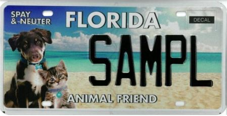 New Florida Animal Friend Spay and Neuter Tag