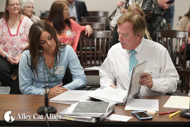 Kristen Lindsey and her attorney, Brian Bishop. Courtesy, Alley Cat Allies