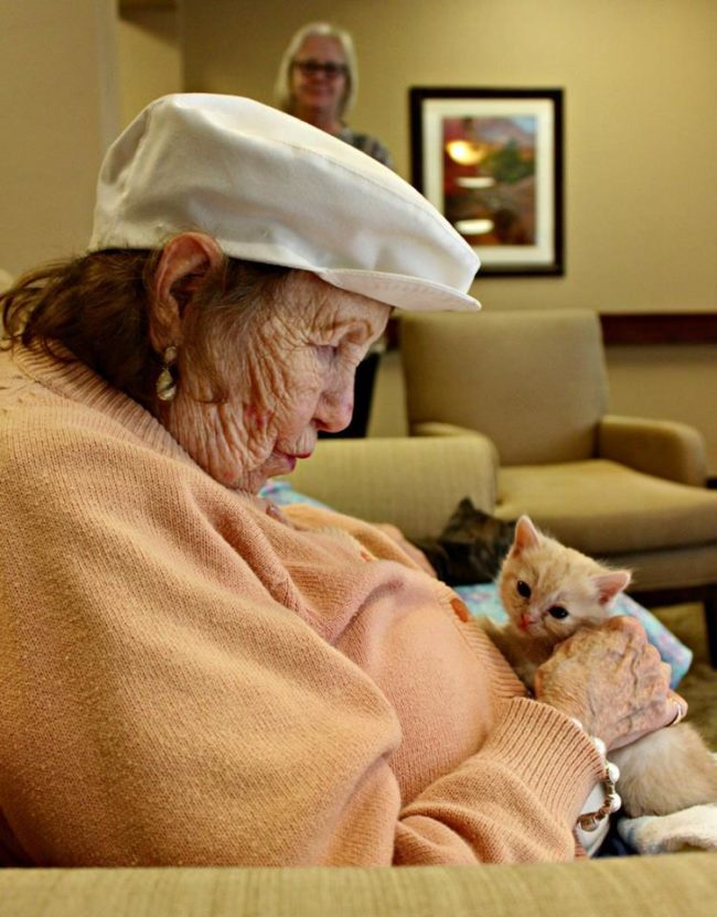 Marion Jane Nelson with Peaches. Photo credit: Pima Animal Care Center