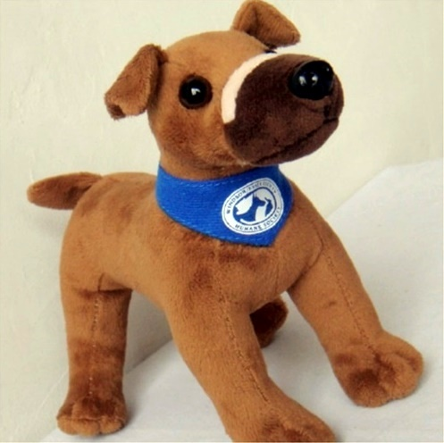 Dog Bound With Electrical Tape and Left For Dead Now Has His Own Mascot Doll to Help Fund Animal Cruelty Investigations