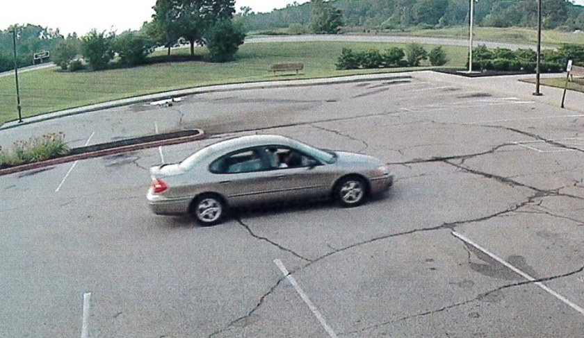 Car driven by man seen in video