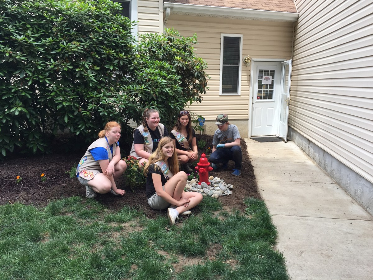 Girl Scout Troop Helps Beautify Senior Dog Sanctuary