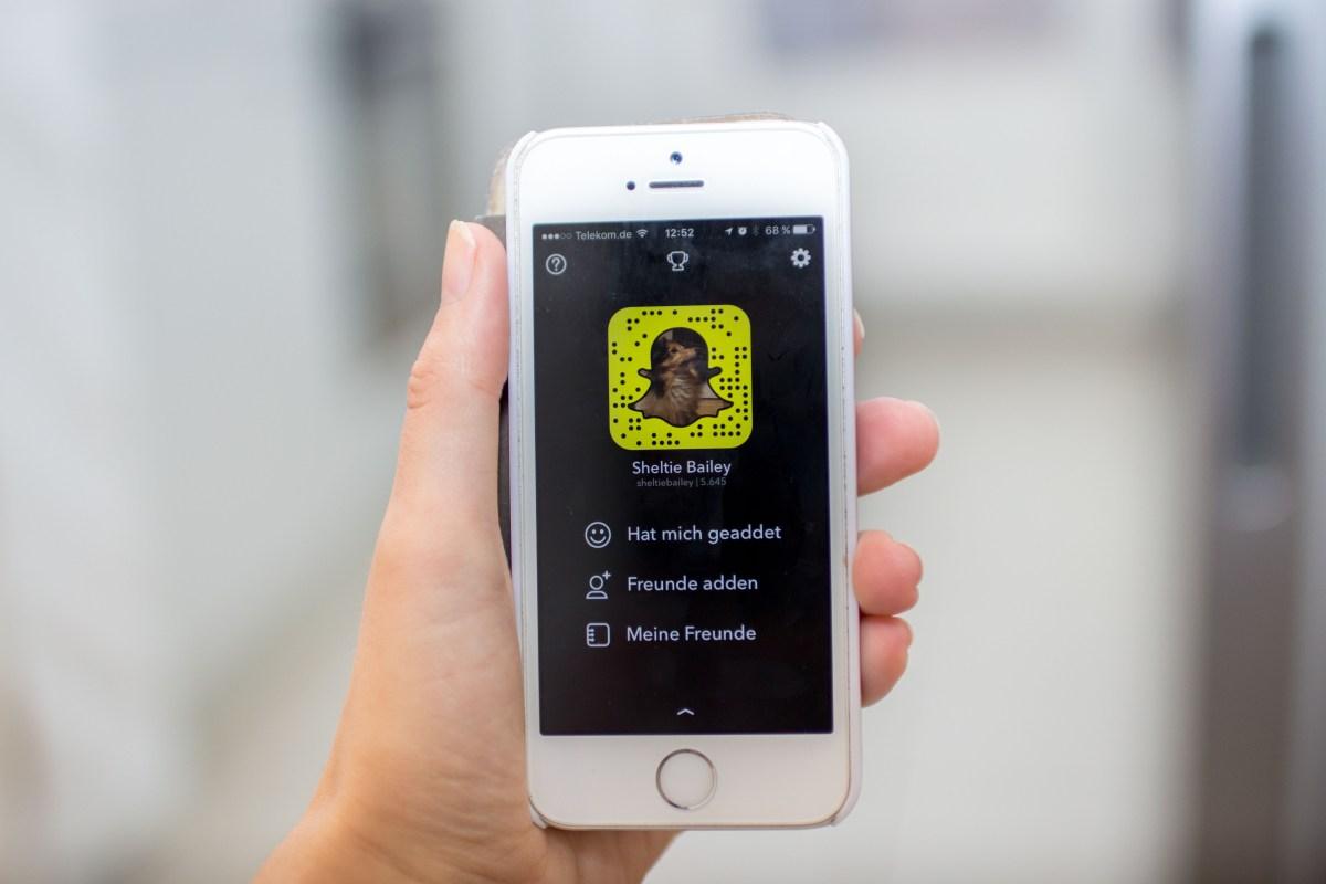 Geaddet hab ich snapchat wen Snapchat Fragen
