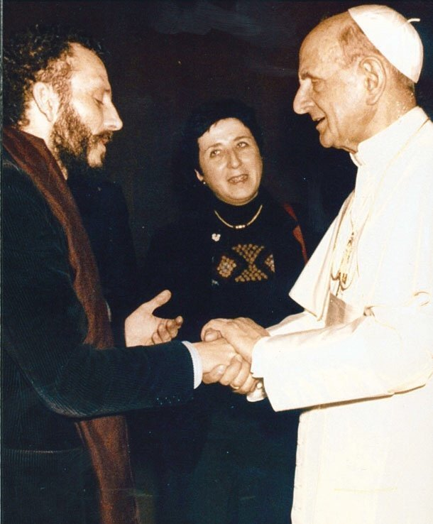 Paolo VI riceve Kiko e Carmen