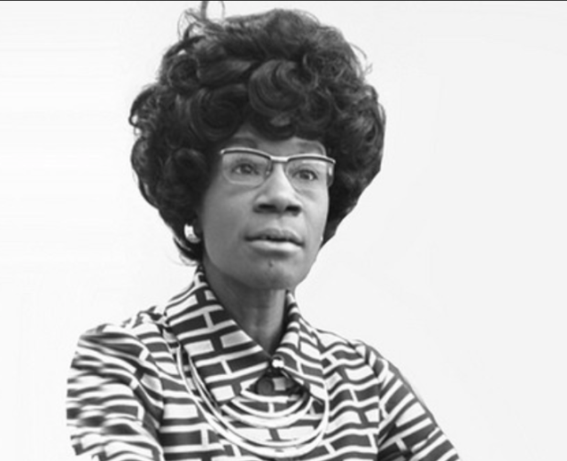 Shirley Chisholm, American politician, educator, and author. The first black woman elected to the United States Congress.
