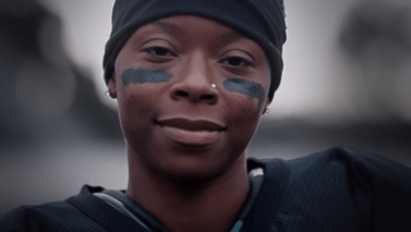Toni Harris America's first female collage football player to receive a full scholarship. Future NFL player?