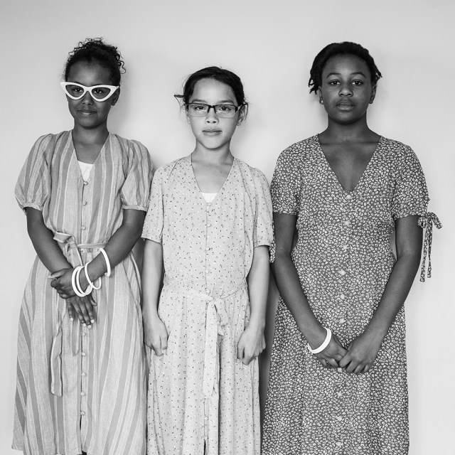 Georgia and Friends as Katherine Johnson, Dorothy Vaughan and Mary Jackson