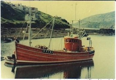 Ribhinn Donnn II ring net fishing boat Scottish west coast and Ireland