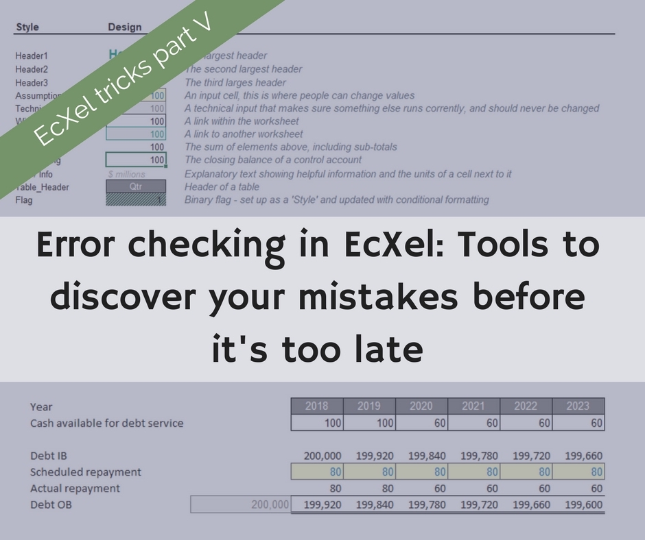 find mistakes in excel