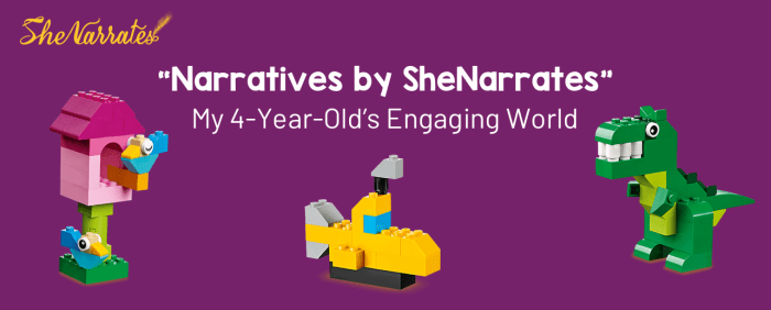 """NARRATIVES BY Pallavi Prakash Kumar SHE NARRATES"": MY 4-YEAR-YOUNG Pratham's ENGAGING WORLD- Lego blocks video and activity"