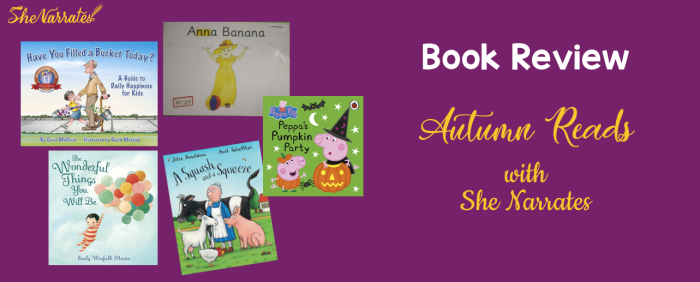 Autumn Good Reads Picture Books for children with She Narrates