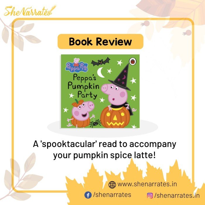 Book review of of the book 'Peppa's Pumpkin Party' based on the TV series of 'Peppa Pig'